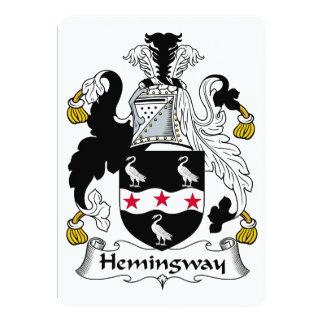 Hemingway Family Crest 5x7 Paper Invitation Card
