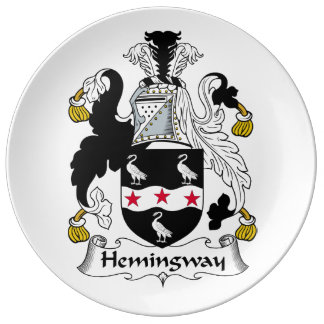 Hemingway Family Crest Porcelain Plates