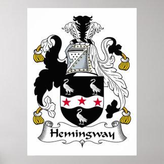 Hemingway Family Crest Poster