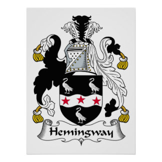 Hemingway Family Crest Print