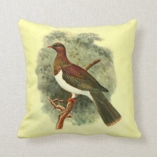 Hemiphaga Spadicea Throw Pillow (Square)