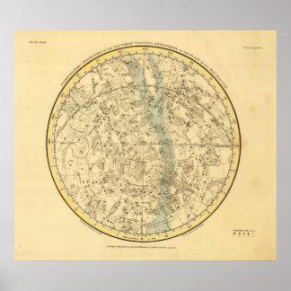 Hemisferio celestial meridional póster