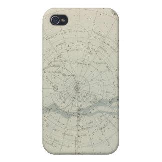 Hemisferio de Celeste del planisferio iPhone 4/4S Carcasas