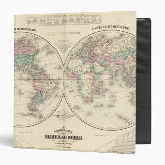 "Hemisferio del este del hemisferio occidental carpeta 1 1/2"""