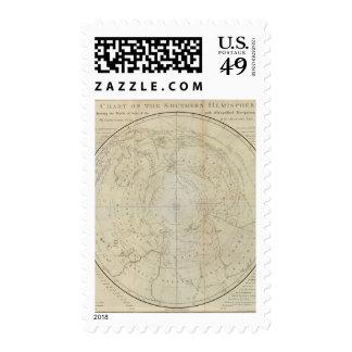 Hemisferio del sur timbre postal