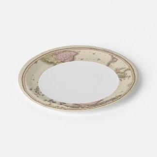 Hemisferio meridional 2 plato de papel de 7 pulgadas