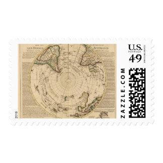 Hemisferio meridional 4 estampillas