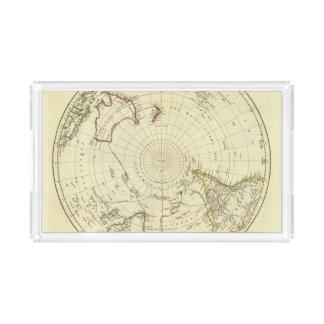 Hemisferio meridional bandeja rectangular