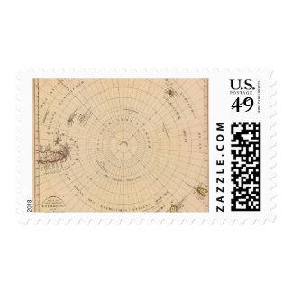 Hemisferio meridional, la Antártida Timbre Postal