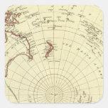 Hemisferio meridional calcomania cuadradas personalizadas