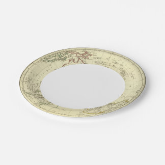 Hemisferio meridional plato de papel de 7 pulgadas