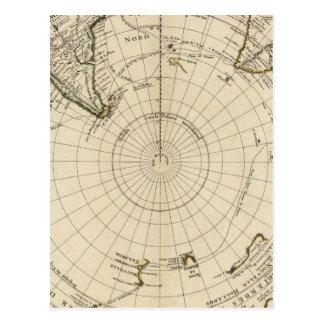 Hemisferio meridional tarjeta postal