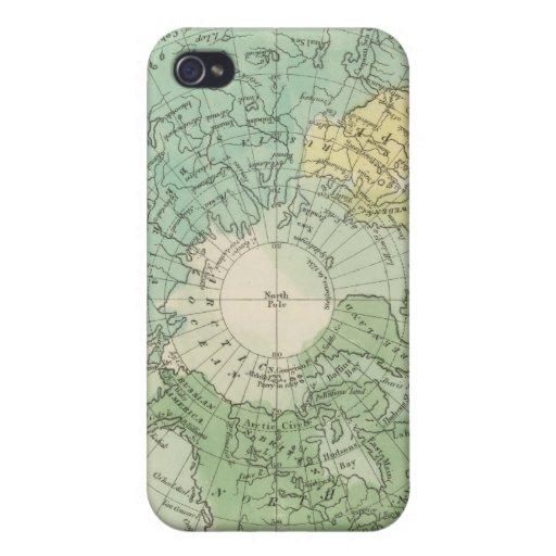 Hemisferio norte 3 iPhone 4 carcasas
