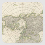 Hemisferio norte 3 pegatina cuadrada