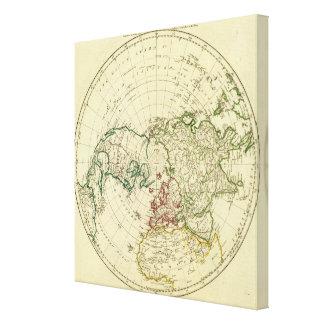 Hemisferio norte 4 impresión en lona