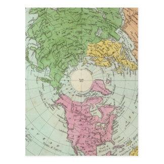 Hemisferio norte postales