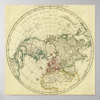 Hemisferio norte póster