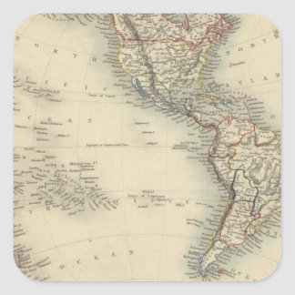 Hemisferio occidental 10 colcomanias cuadradases