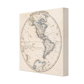 Hemisferio occidental 10 impresión en lona estirada
