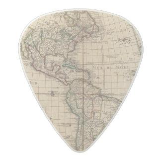 Hemisferio occidental 12 púa de guitarra acetal
