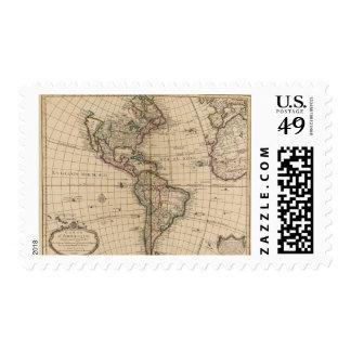 Hemisferio occidental 12 timbre postal