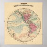Hemisferio occidental 14 póster