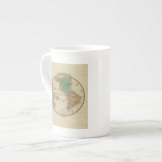 Hemisferio occidental 16 tazas de porcelana