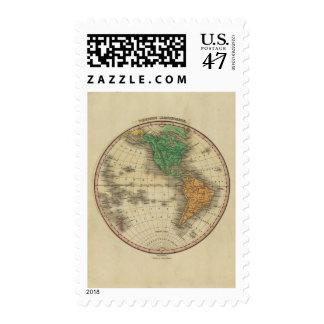 Hemisferio occidental 16 timbres postales