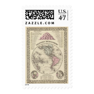 Hemisferio occidental 17 timbre postal