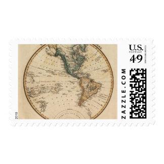 Hemisferio occidental 5 timbres postales