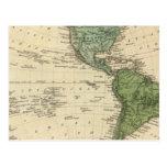 Hemisferio occidental 7 tarjeta postal