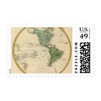 Hemisferio occidental 7 timbre postal