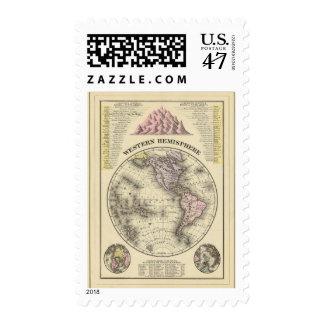 Hemisferio occidental 8 sellos postales
