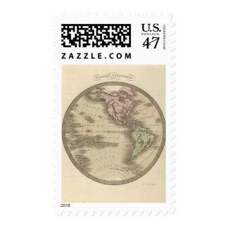 Hemisferio occidental 9 timbres postales