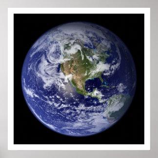 Hemisferio occidental Norteamérica de la tierra Impresiones