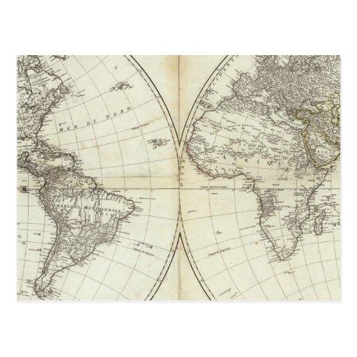 Hemisferio occidental o nuevo mundo postales