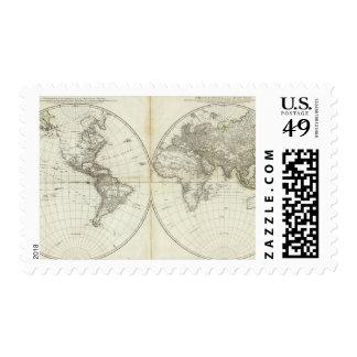Hemisferio occidental o nuevo mundo sello