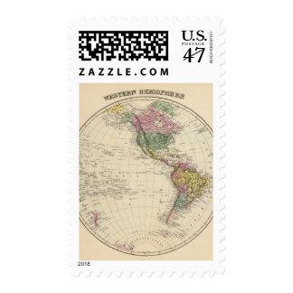 Hemisferio occidental sello postal