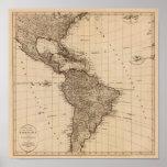 Hemisferio occidental, Suramérica Póster