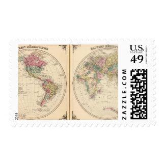 Hemisferio occidental y hemisferio del este sello