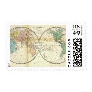 Hemisferios del este y occidentales sellos