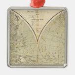 Hemisphere Atlas Map Christmas Tree Ornament