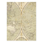 Hemisphere Atlas Map Post Cards