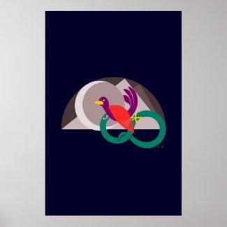 Hemisphere graphic illustration poster