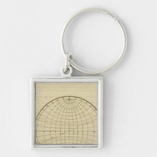 Hemisphere map keychain