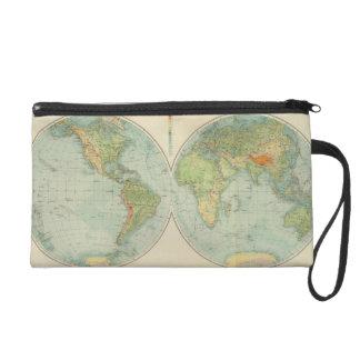 Hemispheres 12 physical wristlet purses