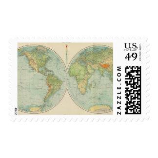 Hemispheres 12 physical postage