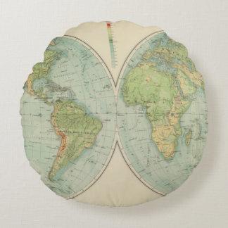 Hemispheres 12 physical round pillow
