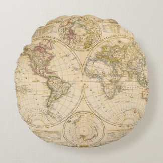 Hemispheres Round Pillow