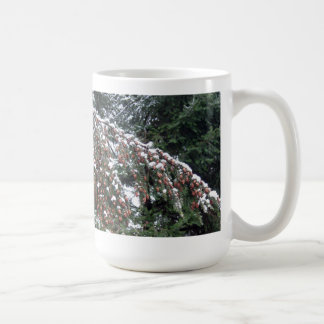 Hemlock Branch with Lowland Snow Coffee Mug